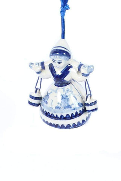 Christmas Ornament, Delft Blue, Milkmaid - Woodenshoefactory Marken