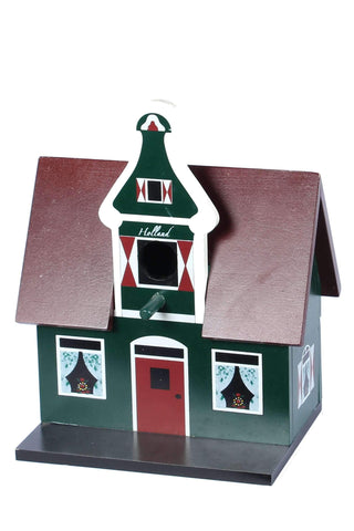 Birdhouse, Traditional Dutch House, Green Style 2 - Woodenshoefactory Marken