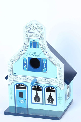 Birdhouse, Traditional Dutch House, Delft Blue - Woodenshoefactory Marken