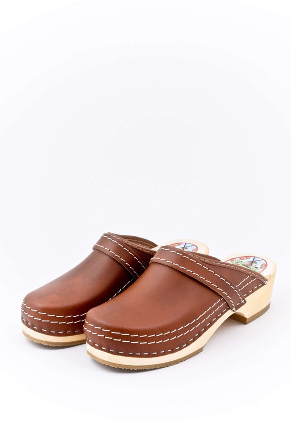 Leather Clogs Brown, Orthepedic Footwear