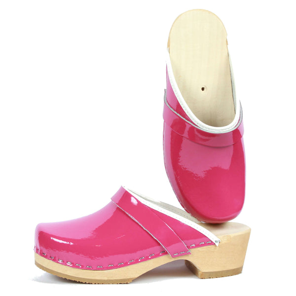 Leather Clogs Pink, Orthepedic Footwear