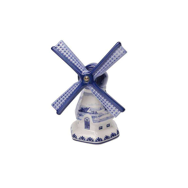 Delft Blue Windmill with a Dutch Landscape Drawing, Small
