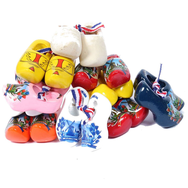 Mini clogs, Wood, 10 pairs, 4 Cm / 1,6 Inch