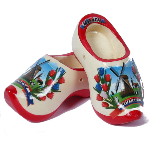 Souvenir Clogs, Red Sole Plain, 12 Cm / 4.7 Inch