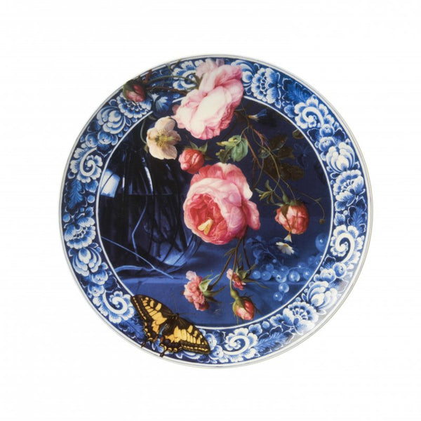 Wall plate 'Flowers of the Dutch Golden Age', Abraham Mignon, Large