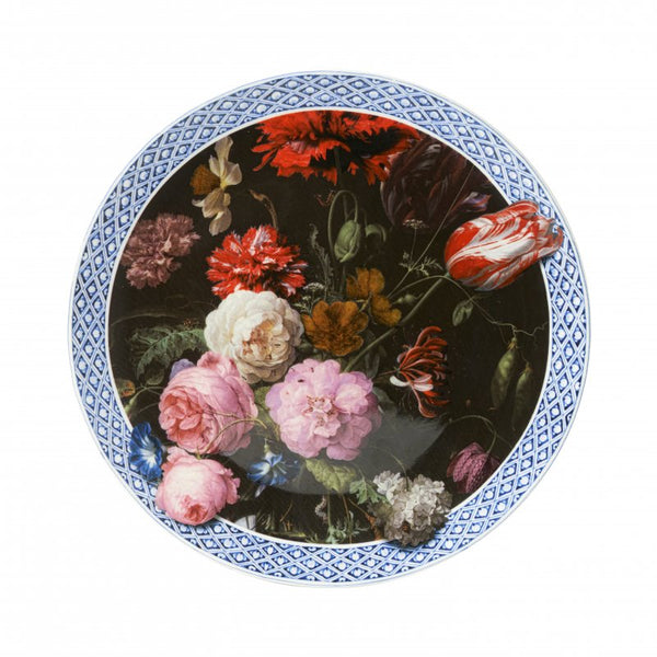 Wall plate 'Still life with Flowers.' Jan Davidz. de Heem, Large