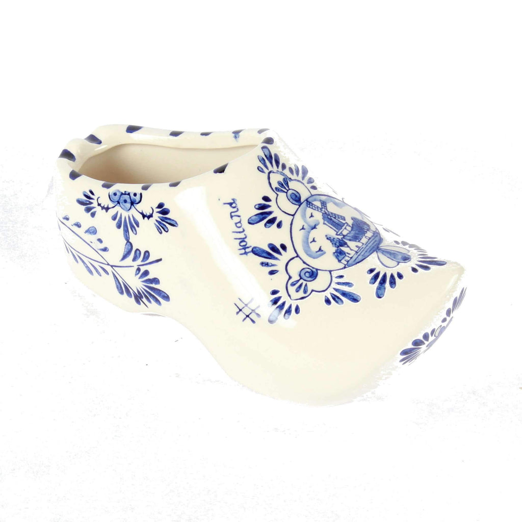Delft Blue Wooden Shoe, Delftware Ashtray, 18 cm / 7.1 inch