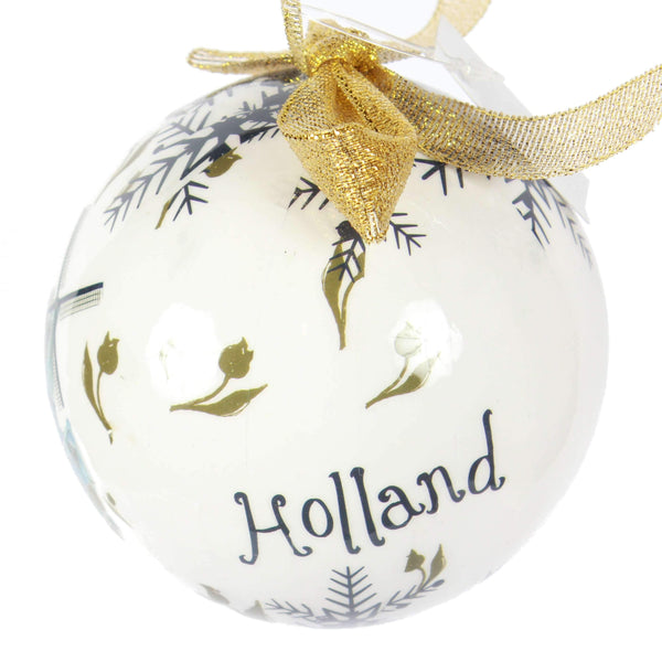 Holland Christmas Ornament, Big Ball With Windmill