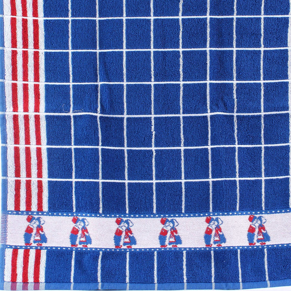 Kissing Couple Blue, Twents Damast Handtowel