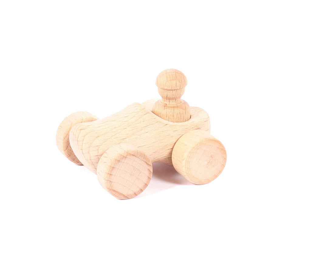 Small Car Wooden Shoe Toy, 6 cm