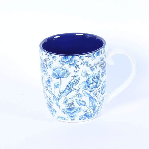 Coffee Cup, Blue Flowers, 15 cl