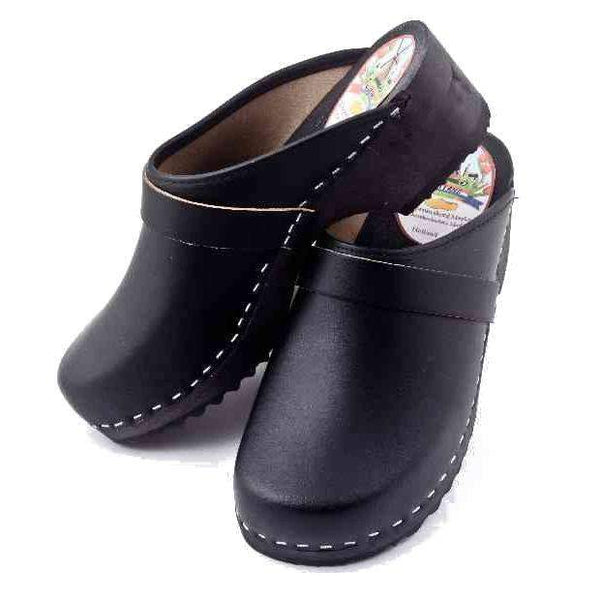 Leather Clogs Black, Orthepedic Footwear