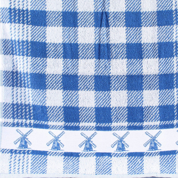 Windmill Blue, Twents Damast Handtowel