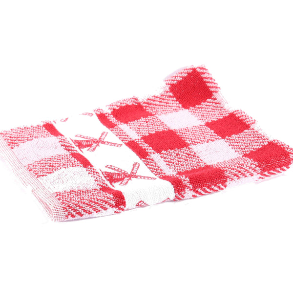 Windmill Red, Twents Damast Handtowel