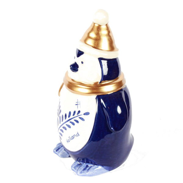 Delft Blue Penguin, Holland Christmas Decoration, Big
