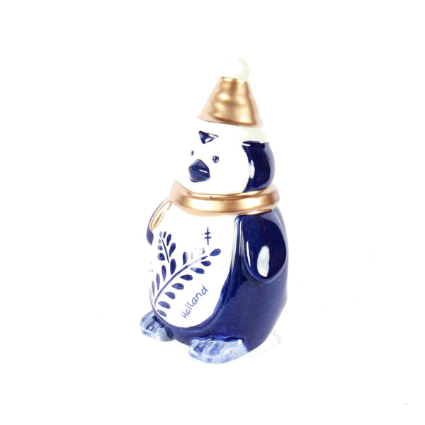 Delft Blue Penguin, Holland Christmas Decoration, Medium