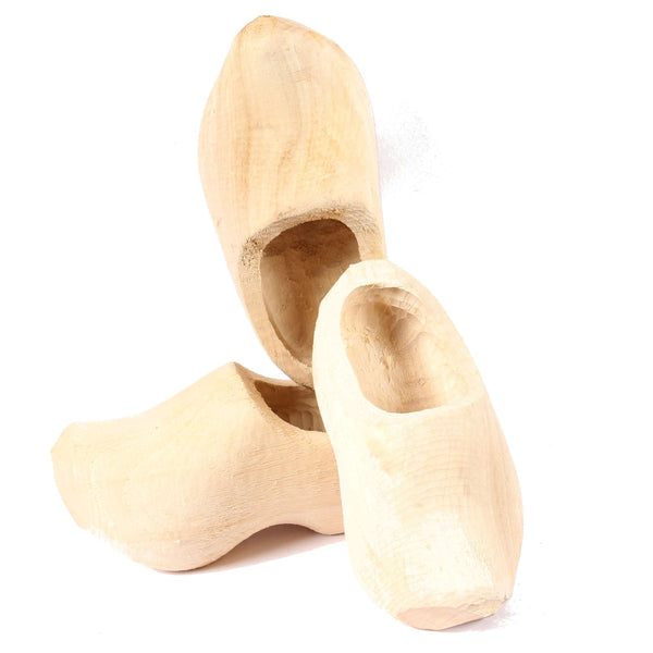 Raw Unfinished Clogs 3 Shoes / Unfinished Wooden Shoes