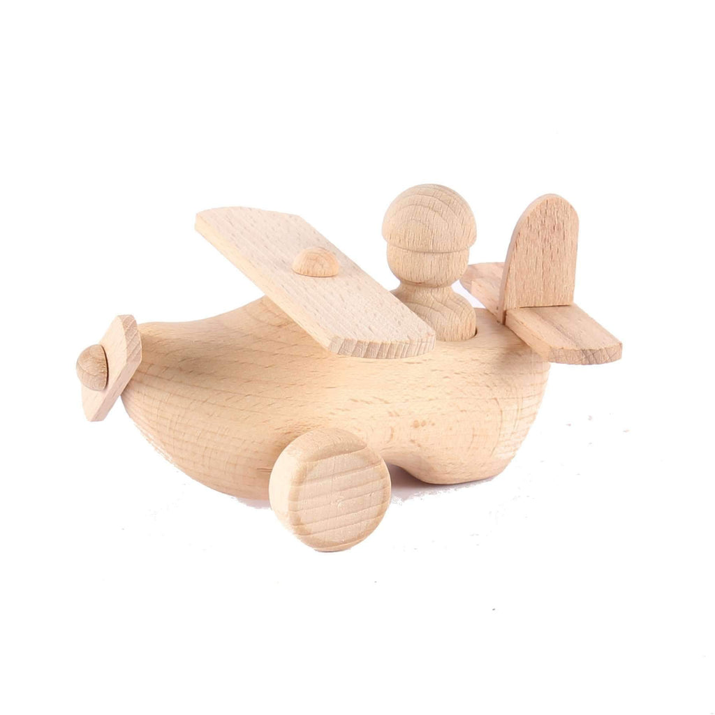 Airplane Wooden Clog Toy