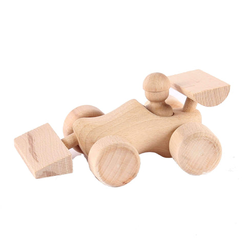 Racing Car Wooden Clog Toy
