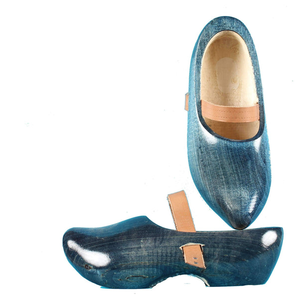 Wooden Shoes Tripklomp Denim, Leather Strap Clog
