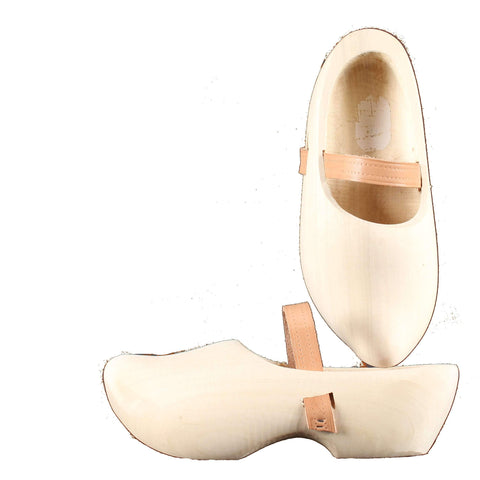 Wooden Shoes Tripklomp Plain, Leather Strap Clog