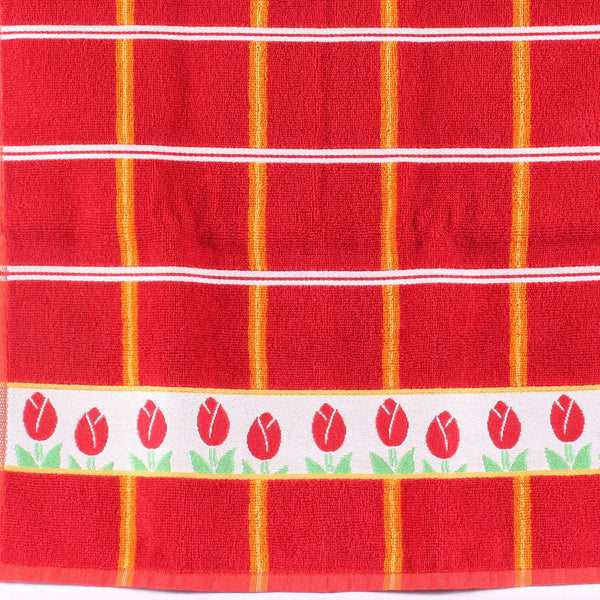 Tulips Red, Twents Damast Handtowel