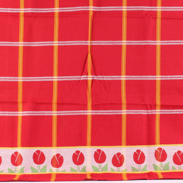 Tulips Red, Twents Damast Dishtowel