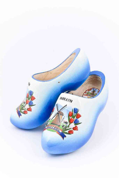Wooden Shoes Marken Blue White - Woodenshoefactory Marken