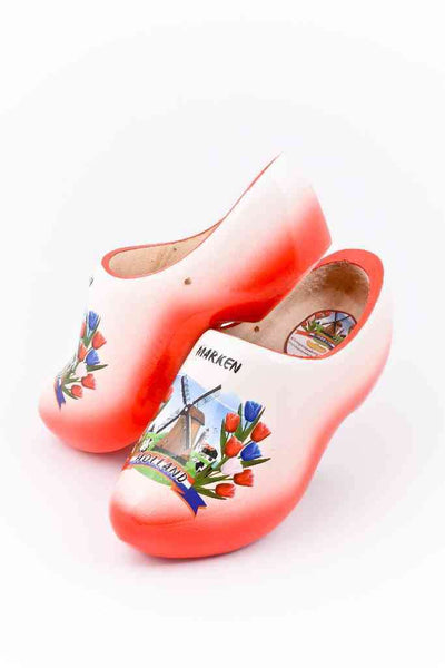 Wooden Shoes Marken Red White - Woodenshoefactory Marken