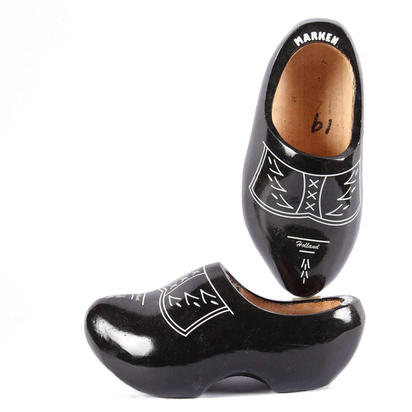 Wooden Shoes Traditional Black