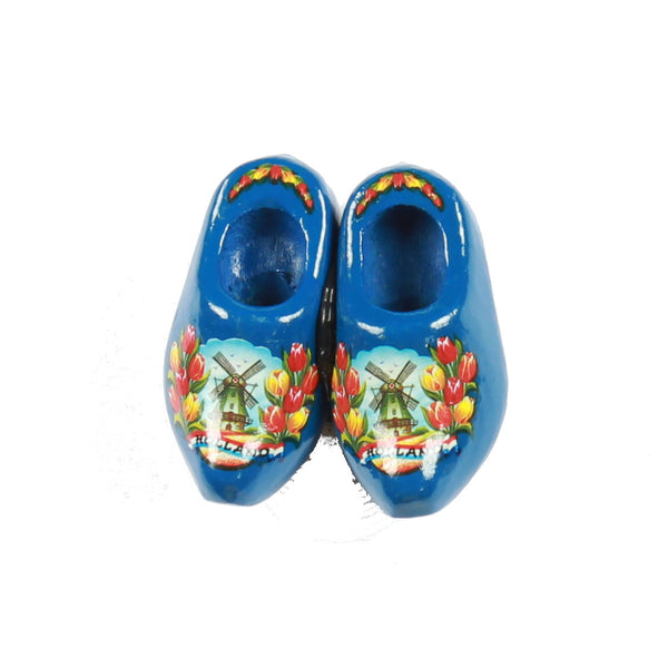 Wooden Shoes Fridge Magnet Blue
