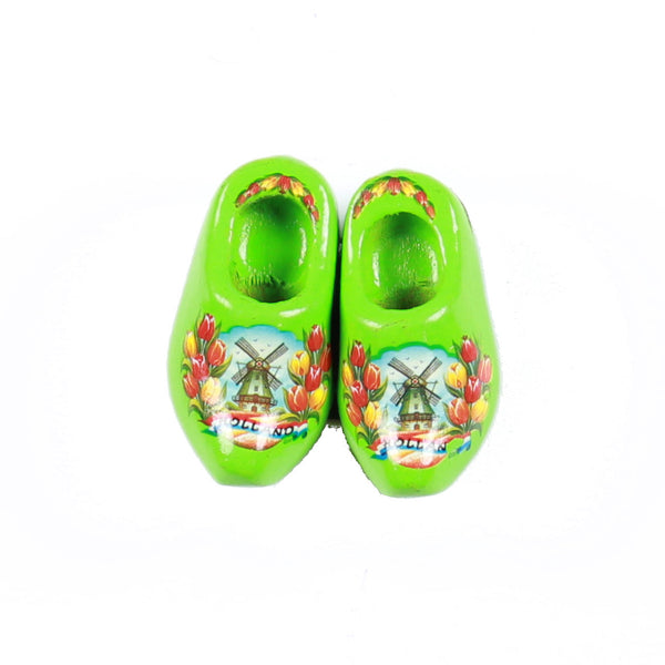 Wooden Shoes Fridge Magnet Green