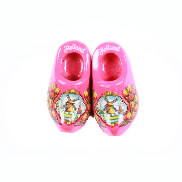 Wooden Shoes Fridge Magnet Pink