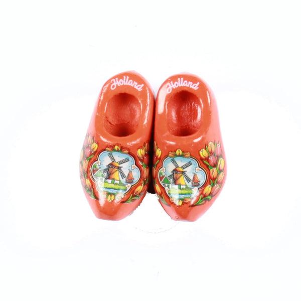 Wooden Shoes Fridge Magnet Red