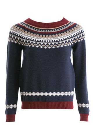 Retro Geometric Sweater