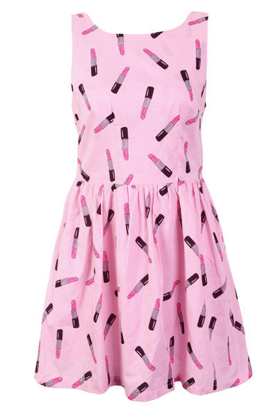 Lipstick Prints Cute Retro Sundress