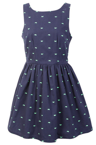 【Back in Stock】Deep Ocean Whale Cute Retro Sundress