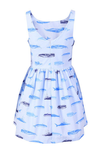 Sperm Whale Cute Retro Sundress