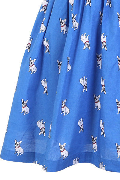 Bulldog Prints Cute Retro Sundress