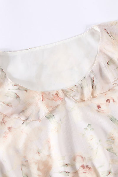 Dolly Collar Ruffle Floral Dress