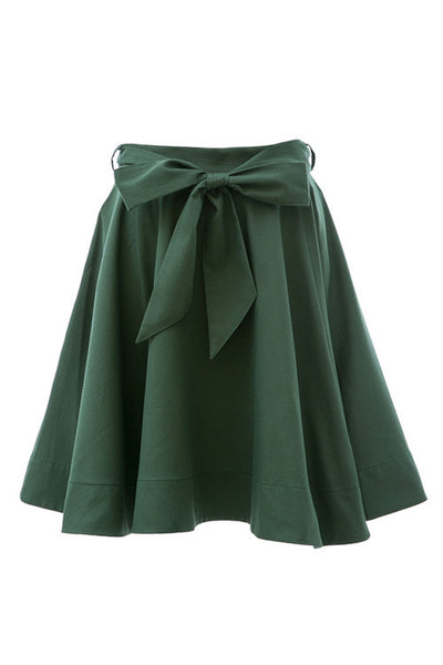 Bow Belt Skater Skirt