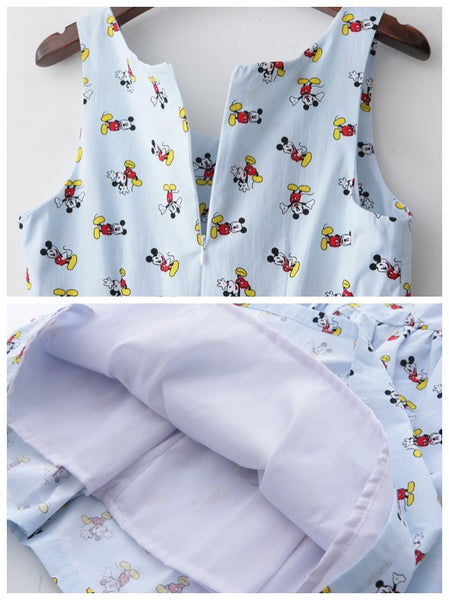 Happy Mickey Cute Retro Sundress