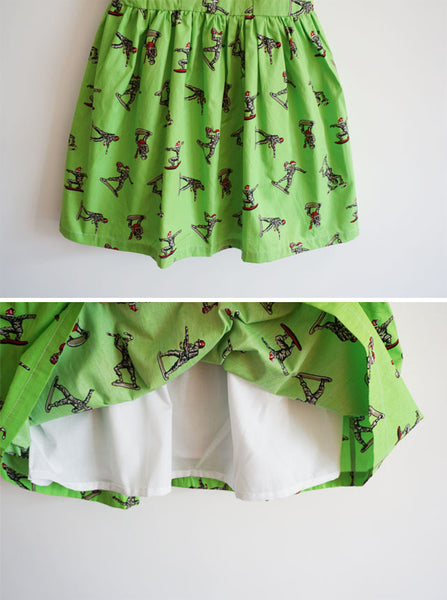 Christmas Army Men Cute Retro Sundress
