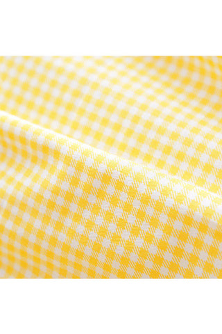【Back in Stock】Little Yellow Gingham Cute Retro Sundress