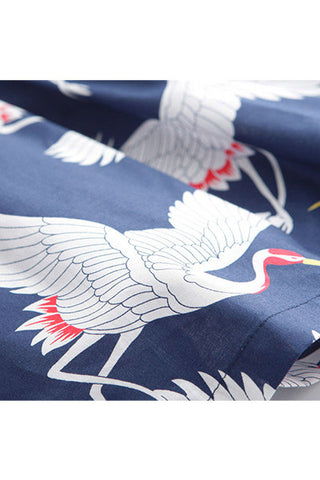 Crane Navy Blue Cute Retro Sundress