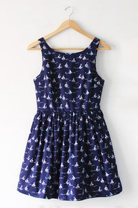 【Back in Stock】Sailing Ship Cute Retro Sundress