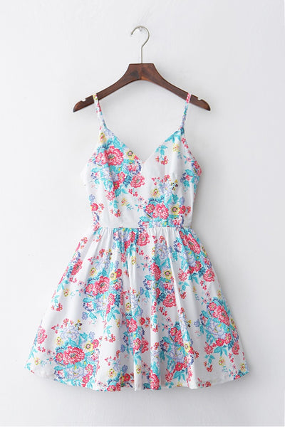 Summer Bloom Strap Cute Retro Sundress