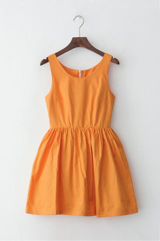 Little Carrot Dress Cute Retro Sundress