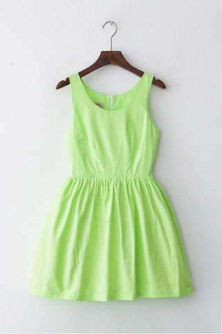 Little Lime Dress Cute Retro Sundress