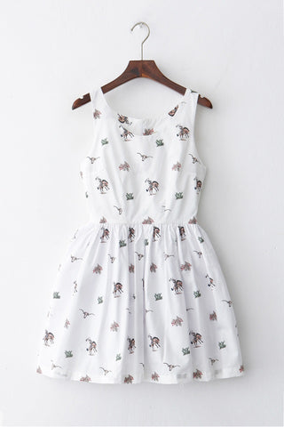 Western Cowboy Cute Retro Sundress